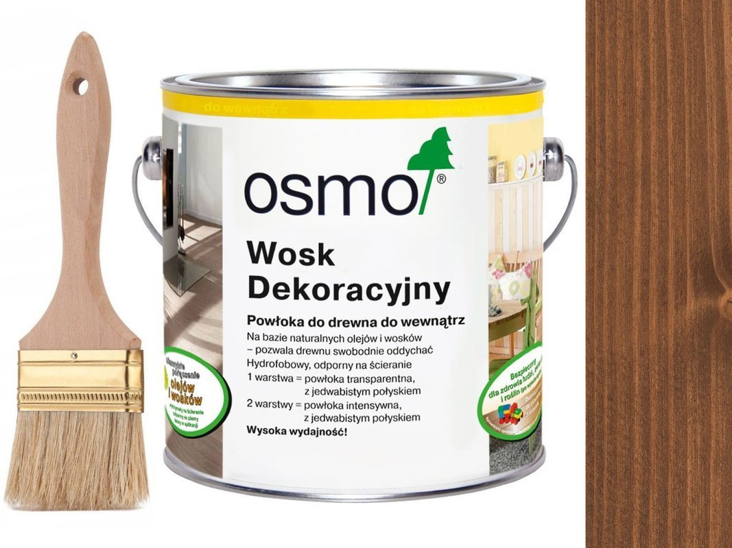 OSMO 3138 wosk dekoracyjny KOLOR MAHOŃ 0,75L