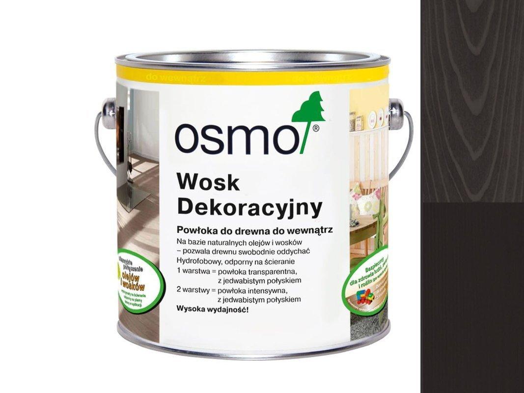 OSMO 3169 wosk dekoracyjny CZARNY 0,125L