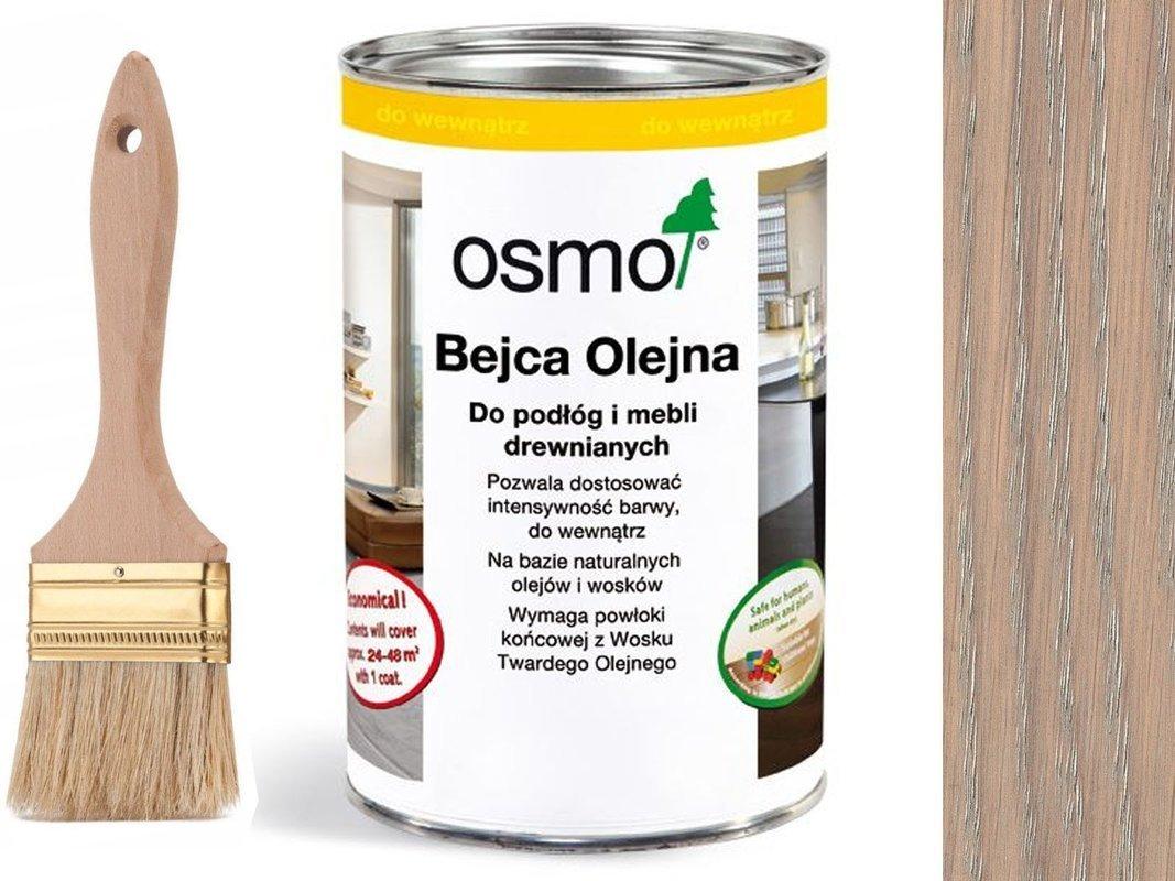 OSMO 3518 Bejca Olejna podłogi JASNY SZARY 1L